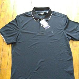 NWT Izod Med. Black Performance Polo Shirt B27